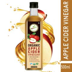 Orgabite Organic Apple Cider Vinegar with Mother of Vinegar | Raw | Unfiltered | Unpasteurized 500ml