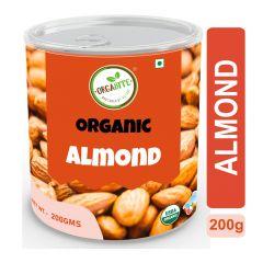 Orgabite Organic Premium Quality Almonds | Composite Jar 200g