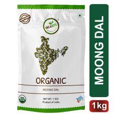 Orgabite Organic Moong Dal Chilka   Green Gram Split 1Kg