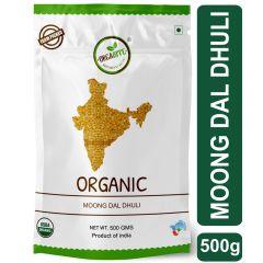 Orgabite Organic Moong Dal Dhuli   Green Gram Yellow Split 500g