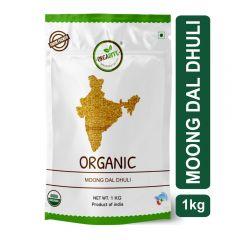 Orgabite Organic Moong Dal Dhuli   Green Gram Yellow Split 1Kg