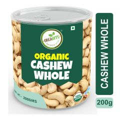 Orgabite Organic Premium Quality Cashew Whole 200g